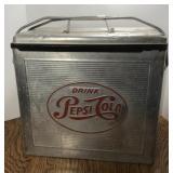 Vintage Pepsi-Cola Aluminum Advertising Cooler