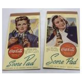 (2) Vintage Coca-Cola Promotional Bridge Score