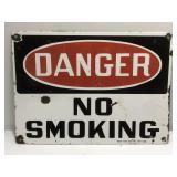Vintage Porcelain Danger No Smoking Ready Made