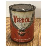Vintage Veedol Flying A One Pound Grease Can