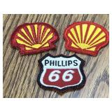 Lot of 3 Service Station Patches