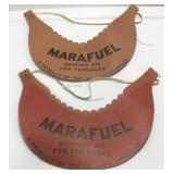 (2) Vintage Marafuel Promotional Visor Sold