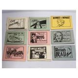 (9) Vintage Tijuana Bible Smut Booklets / Novelty