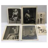 Lot of 6 Vintage Nude Pinup Girl Photos Largest