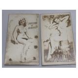 2 Vintage Nude Pinup Girl Magic Barometer Cards