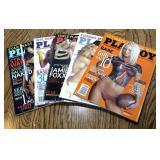 Lot of 5 Playboy Magazines / Nude Girls