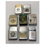(8) Vintage Advertising Lighter Sold times the