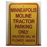 Heavy Metal Minneapolis Moline Tractor Parking