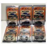 (6)Mattel Matchbox Car On Blister Card  Sold