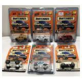 (6) Mattel Matchbox Car On Blister Card  Sold