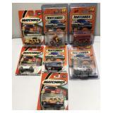 (7) Mattel Matchbox Car On Blister Card  Sold