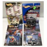 (4) Mattel Hot Wheels Car On Blister Card  Sold