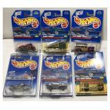 (6) Mattel Hot Wheels Car On Blister Card  Sold