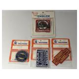 (4) Vintage Walthers Railroad Emblems Embroidered