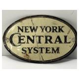 Vintage Embossed Tin New York Central System