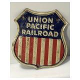 Vintage Embossed Tin Union Pacific Railroad