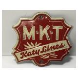 Vintage Embossed Tin Katy Lines Railroad Emblem