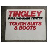 Vintage Tingley Metal Advertising Sign Measures