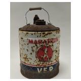 Vintage Marathon VEP Gas Can