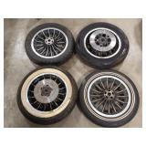 (4) Harley Shovelhead AMF 16 Spoke Rear Wheel