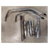 Vintage Motorcycle Exhaust Lot Includes Harley