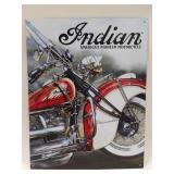 Metal Indian Motorcycle Sign Measures