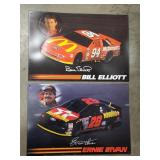 (2) Tin Embossed Nascar Signs Sold times the