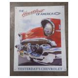Tin Chevrolet  Advertising Sign  Measures