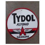 Flying A Gasoline Embossed Tin Advertising