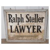 Vintage Hand Painted Ralph Steller Double Sided
