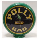 Polly Gas Advertising Gas Pump Globe / Double