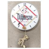 """Vintage Duquesne Beer 12"""" Advertising Clock"""