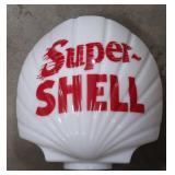 Glass Super Shell Gas Globe  Measures