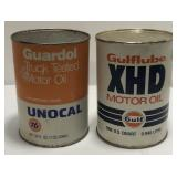(2) Vintage One Quart Oil Can / Gulf  Sold times