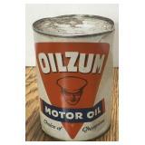 Vintage Oilzum Full One Quart Oil Can