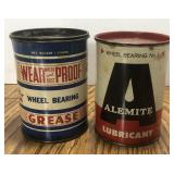 (2) Vintage 1 Pound Wheel Bearing Lubricant Can