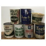 Vintage Oil Can Lot