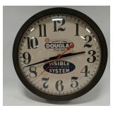 Vintage Douglas Tools Advertising Clock Measures