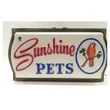 Large Vintage Sunshine Pets Lighted Blinking