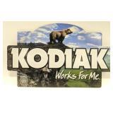 Tin Embossed Kodiak Chewing Tobacco Advertising
