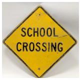 Large Vintage Heavy Metal School Crossing