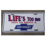 Vintage Chevrolet License Plate