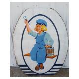 Large Vintage Dutchboy Porcelain Advertising