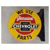 Scarce Chevrolet Genuine Parts Double Sided Metal