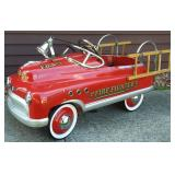 Comet Pedal Fire Truck Pressed Steel Pedal Car