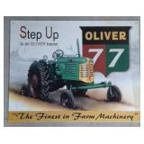 Oliver 77 Tin Advertising Sign  Measures