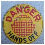 Vintage Danger Hands Off Double Sided