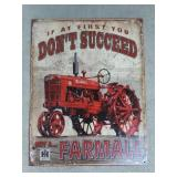 International Harvester Farmall Tin Advertising