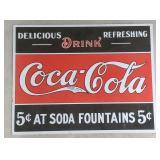Coca-Cola Tin Advertising Sign  Measures