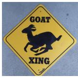 """Goat Crossing Sign  Measures approximately 15"""""""